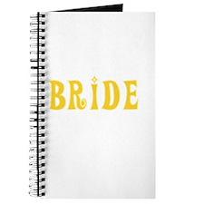 Bride Yellow Text Journal