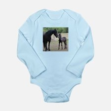Friesian mare and foal Body Suit