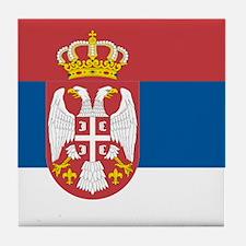 Serbian flag Tile Coaster