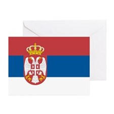 Serbian flag Greeting Cards (Pk of 10)