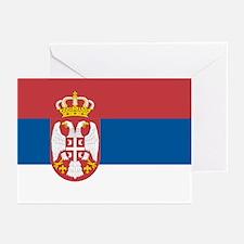 Serbian flag Greeting Cards (Pk of 10)