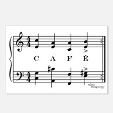 café (piano) Postcards (Package of 8)