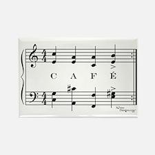 café (piano) Rectangle Magnet