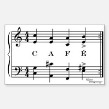 café (piano) Rectangle Decal
