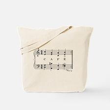café (piano) Tote Bag