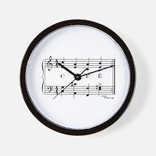 café (piano) Wall Clock