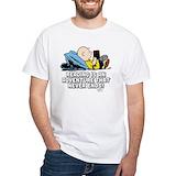 Peanuts gang Mens White T-shirts