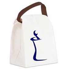 Blue Mortar and Pestle Canvas Lunch Bag