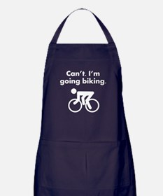 Cant Im Going Biking Apron (dark)