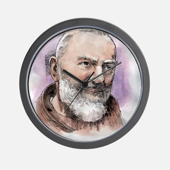 Padre Pio Wall Clock