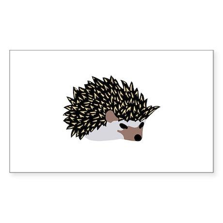 tea time hedgehog Rectangle Sticker