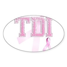 TDI initials, Pink Ribbon, Stickers