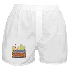 SF Golden Skyline Boxer Shorts
