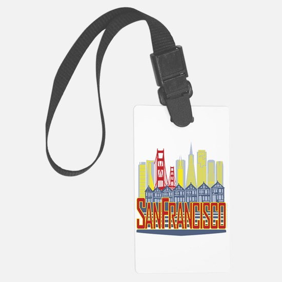 SF Golden Skyline Luggage Tag
