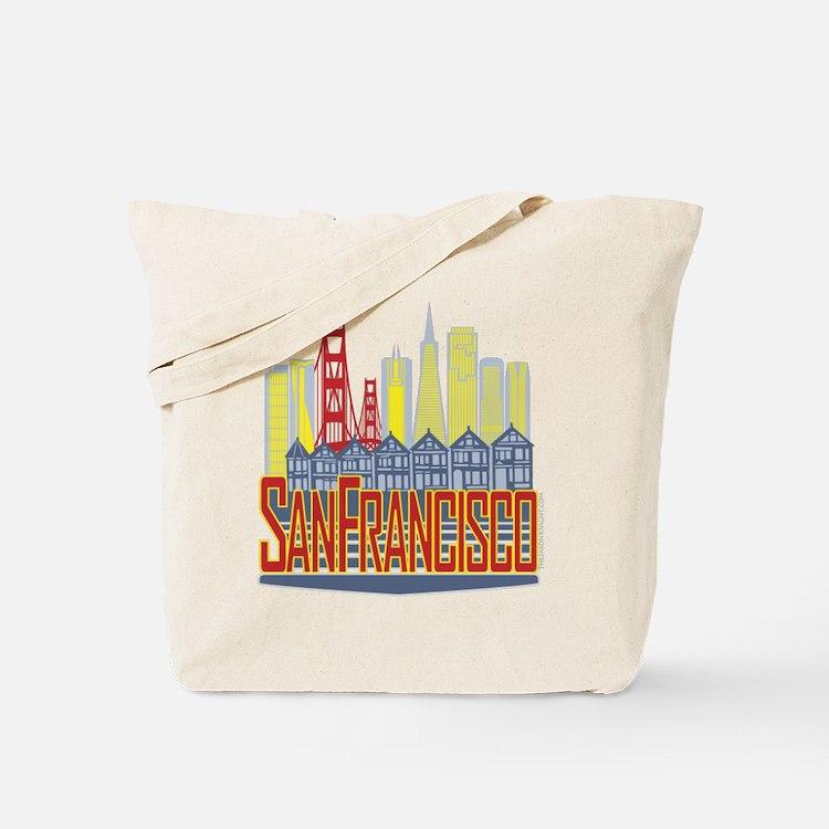 SF Golden Skyline Tote Bag