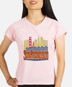 SF Golden Skyline Performance Dry T-Shirt