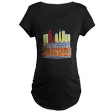 SF Golden Skyline Maternity T-Shirt