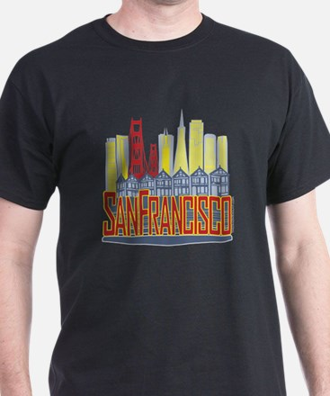 SF Golden Skyline T-Shirt
