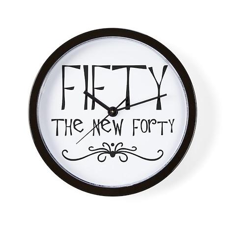 Fiftieth, 50 the new 40 Wall Clock