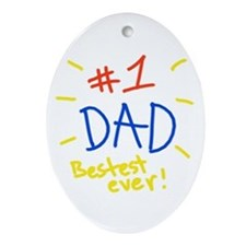 #1 dad Oval Ornament