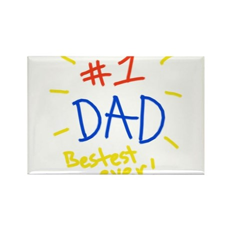 #1 dad Rectangle Magnet