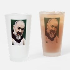 Funny Padre pio Drinking Glass