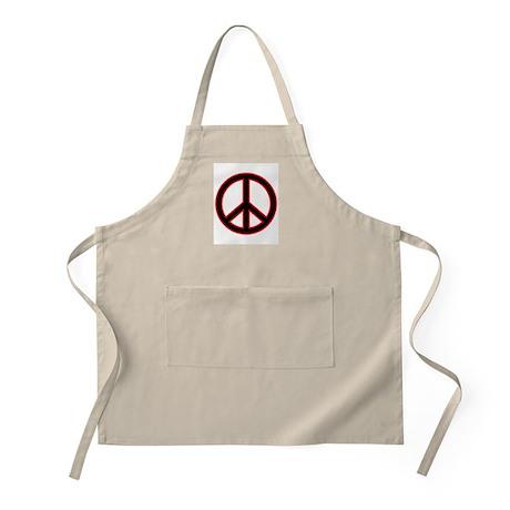 Red&Black Peace Symbol BBQ Apron