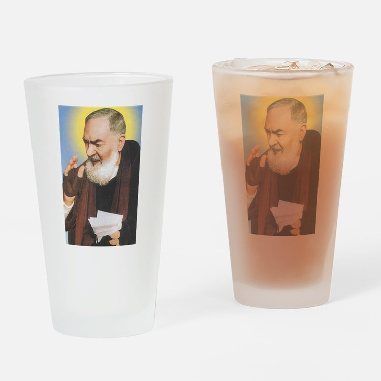 Cute Padre pio Drinking Glass