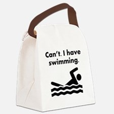 Cant I Have Swimming Canvas Lunch Bag