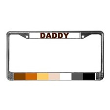 Cute Bear pride colors License Plate Frame