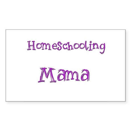 Homeschooling Mama Rectangle Sticker