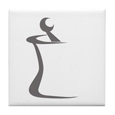 Gray Mortar and Pestle Tile Coaster