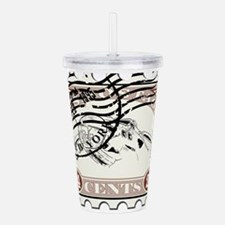 Unique Postage stamps Acrylic Double-wall Tumbler