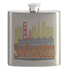 SF Golden Skyline Flask