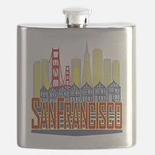 SF Golden Skyline Flask