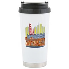 SF Golden Skyline Travel Mug