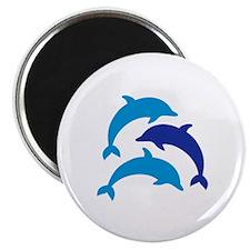 "Blue Dolphins 2.25"" Magnet (10 pack)"