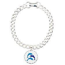 Blue Dolphins Charm Bracelet, One Charm