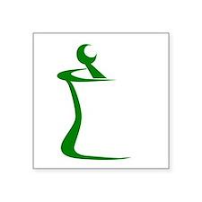 "Green Mortar and Pestle Square Sticker 3"" x 3"""