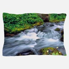 Mt Adams Wilderness. Bird Creek cascad Pillow Case