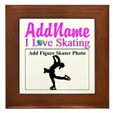 Ice skater Framed Tiles