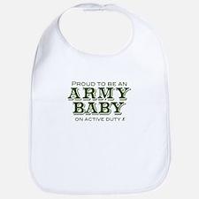 """Proud Army Baby"" Bib"