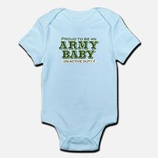 """Proud Army Baby"" Infant Bodysuit"