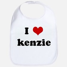 I Love kenzie Bib