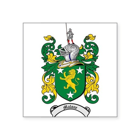 Malone Family Crest / Coat of Arms Sticker