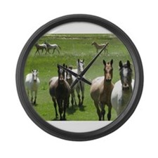 Funny Horse Large Wall Clock