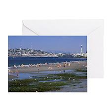 Seattle. Alki beach at low tideState Greeting Card