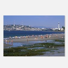 Seattle. Alki beach at lo Postcards (Package of 8)