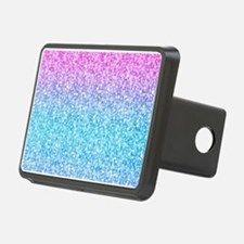 Colorful Retro Glitter And Sparkles Hitch Cover