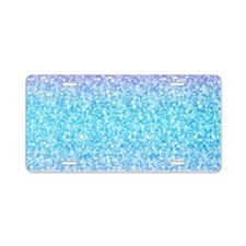 Colorful Retro Glitter And Sparkles Aluminum Licen
